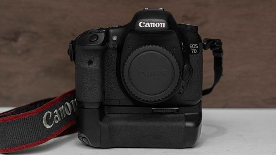 Canon 7d C/ Grip + Bateria + Carregador