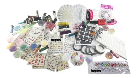 Kit Mega Completo Para Deco De Uñas, Nail Art. 83 Articulos!