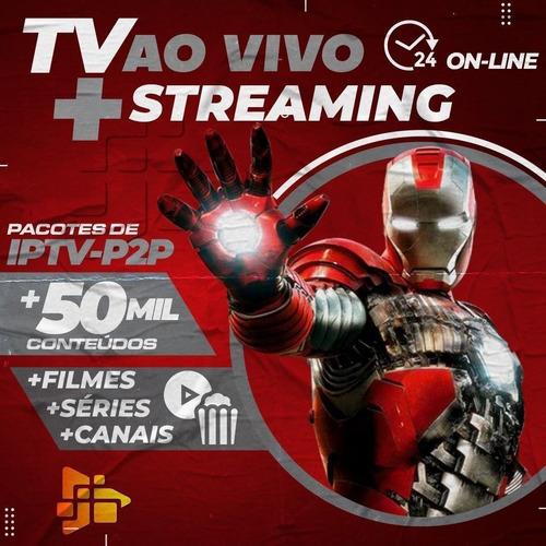Imagem 1 de 1 de Iptv Tv Via Internet 50 Mil Conteúdo Canais Hd Filmes Série