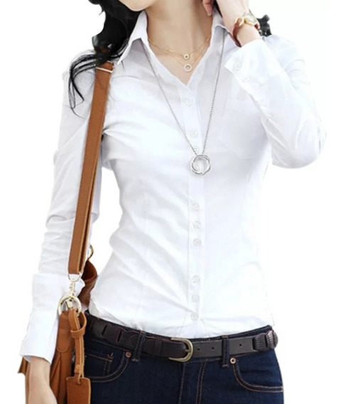 Blusa De Vestir Slim Fit