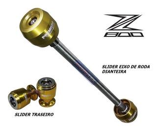 Slider Traseiro E Roda Dianteira Premium Kawasaki Z800 Z 800
