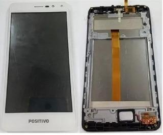 Tela Touch Display Lcd Com Aro Positivo S511 Branco Original