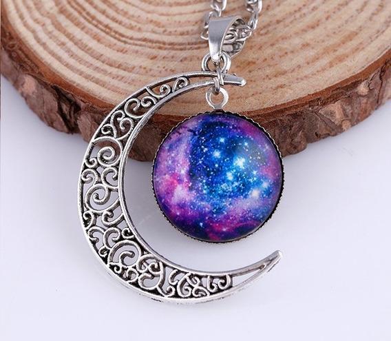 Colar Lua Galaxia Nebulosa