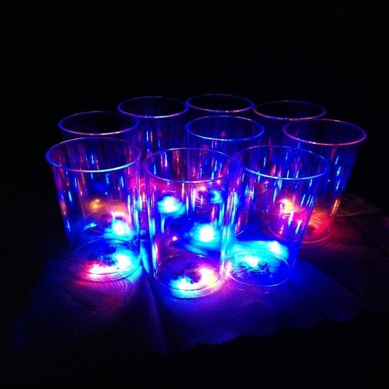 50 Vasos Luminosos Led , Cotillon Luminoso Led , Neon !!!