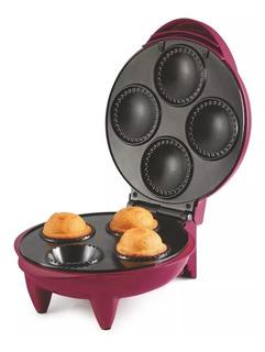 Maquina Para Hacer 4 Cupcakes Rosa Taurus