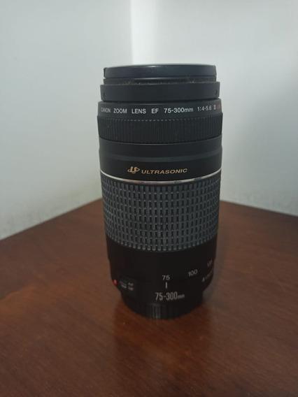 Lente Canon 75-300 Ultrassonic