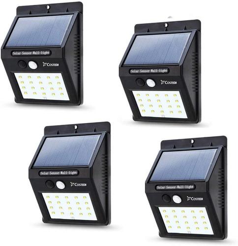 4 Pack:  Lámparas Solares Para Pared De 20 Leds