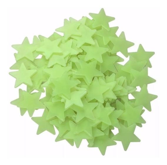 100 Estrelas Fluorescentes Neon Teto/parede Brilha Escuro!
