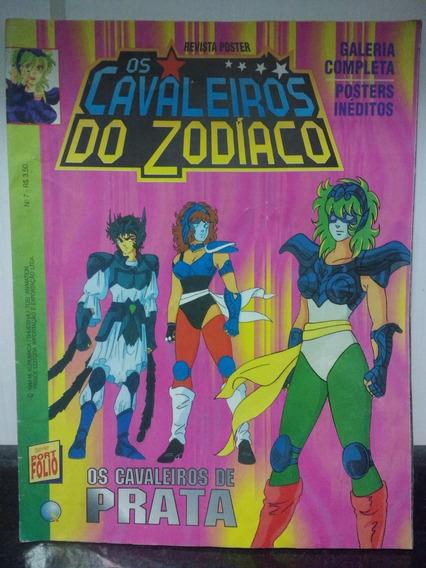 Revista Poster Cavaleiros Do Zodiaco 7 Cavaleiros Prata Rjhm