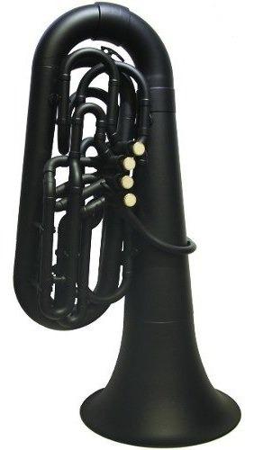 Tuba Plástica Negra En Bb (sib) Parquer C/ Funda Cuota