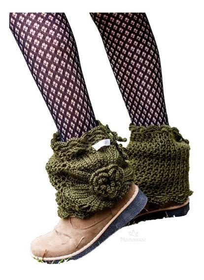 Cubrebotas Manawee Mujer Polainas Tejidas A Crochet