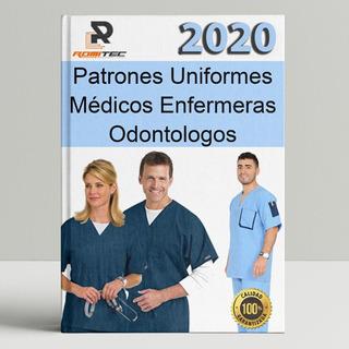 Patrones Uniformes Médicos Moldes Enfermeras Odontología