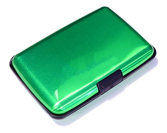 Carteira Porta Cartão Visita Crédito Alumínio Prova D´água