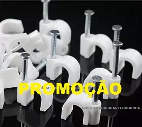 Miguelão 6mm 1000 Pç- Fixa Fio Cat5 Rg59 Drop Flat Pregoaço
