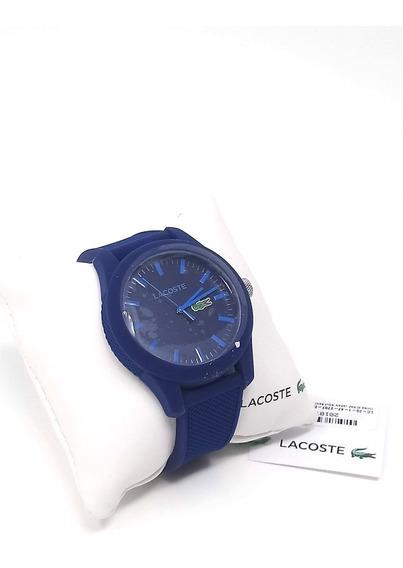 Reloj Lacoste 2010765 Hombre Correa Azul Silicona Texturizad