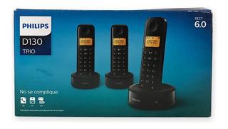 Telefone Sem Fio Philips Trio ( Com 3 ) D130 Iluminado