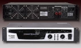 Amplificador Profissional Crest Audio Cc4000 Usada