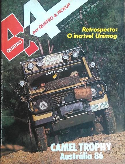 Revista 4x4 Nº30 Maio 1986 Poster: Land Rover 90