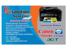 Servicio Técnico De Impresoras, Laptop`s, Pcs