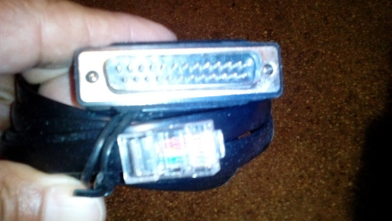Cable Adaptador Serial Db25 Macho A Rj45