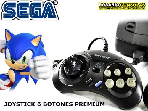Joystick Sega 6 Botones Maxima Calidad Premium 16 Bit