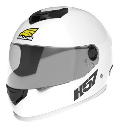 Imagen 1 de 3 de Casco para moto integral Halcon H57  blanco talle M