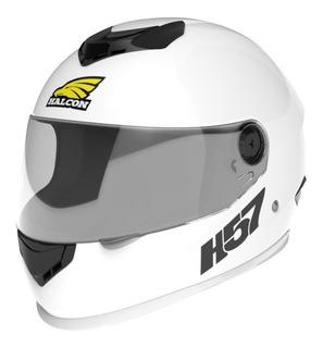 Casco para moto integral Halcon H57 blanco talle M