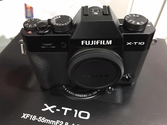 Câmera Fujifilm Xt10 X-t10 Corpo Em Estado De Nova Na Caixa!