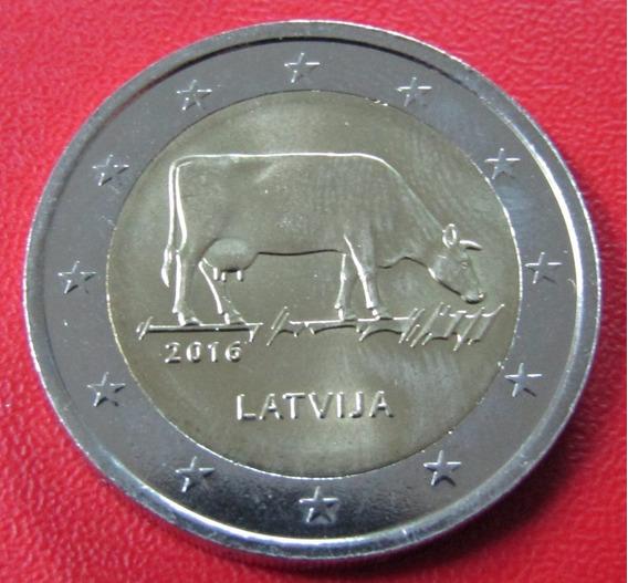 Letonia Moneda 2 Euros 2016 Unc Vaca