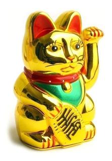 Gato Chino De La Suerte 15 Cm - Maneki Neko Envío Gratis