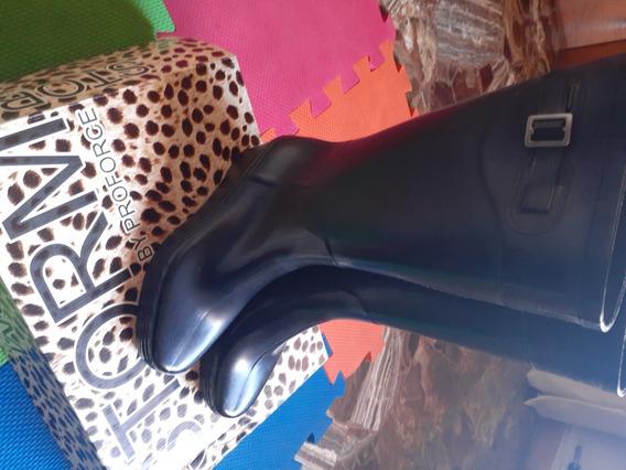 Bota De Lluvia De Mujer Taco Chino Caña Alta