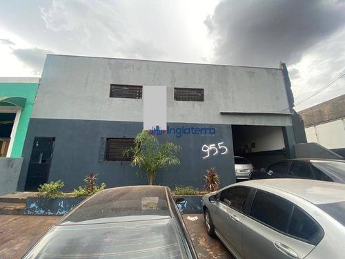 Barracão À Venda, 290 M² Por R$ 900.000,00 - Andes - Londrina/pr - Ba0076