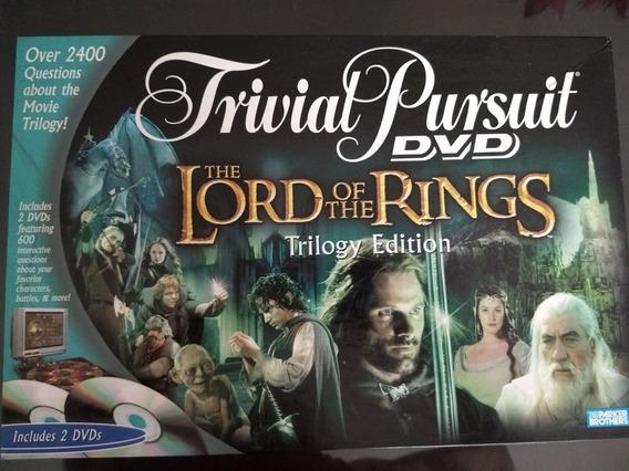 Jogo De Tabuleiro Trivial Pursuit Lord Of The Rings, Com Dvd