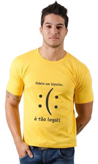 Camiseta Divertida Eu Sou Bipolar Diversas Cores - A Melhor