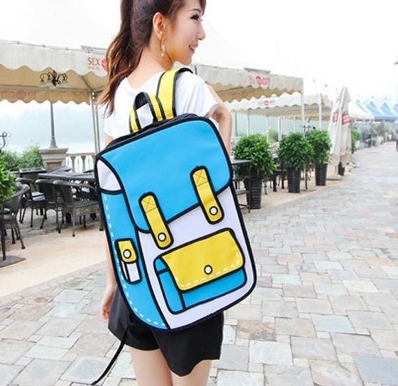 Mochila Bolso Diseño 2d 3d Cartoonbag Backpack Importada 3