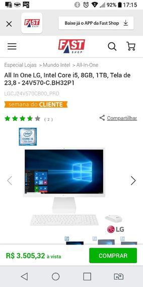 Computador Lg I5 7ger, 8 Gb De Ram