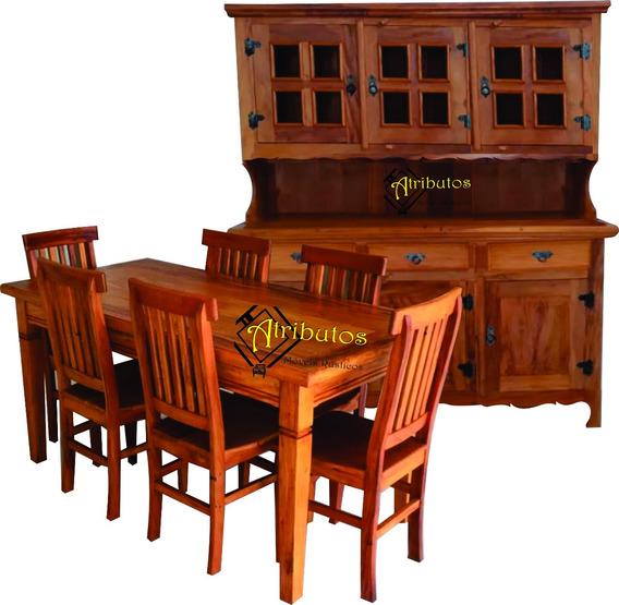 Mesa De Jantar 6 Cadeiras E Armário De Cozinha 3 Portas