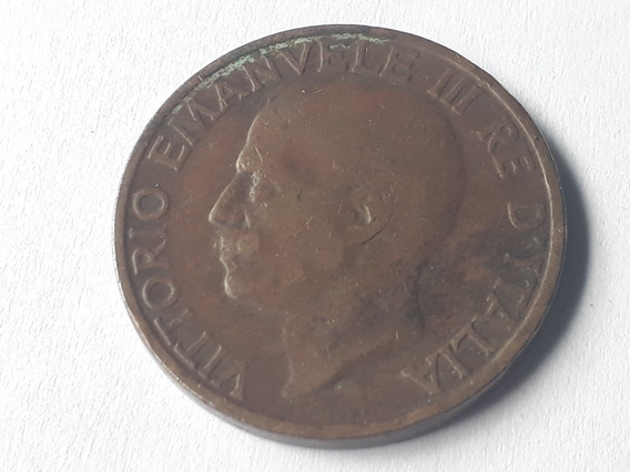 Moneda Italia 10 Centésimos, 1928 Cobre Km# 60 Lote 377