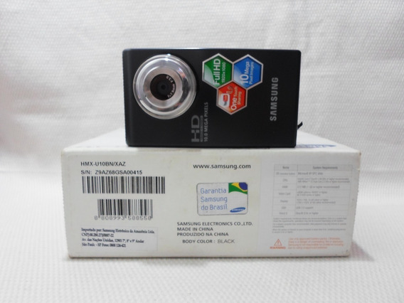 Câmera Digital Filmadora Samsung U10 Hmx-u10 Preta - Usada