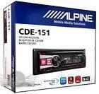Imagen 1 de 1 de Alpine Cde-151 In-dash Car Stereo Cd/mp3/usb/aux/pandora Rec