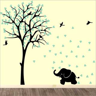 Adesivo Quarto Infantil Arvore Elefante Bebe Zoo Md455