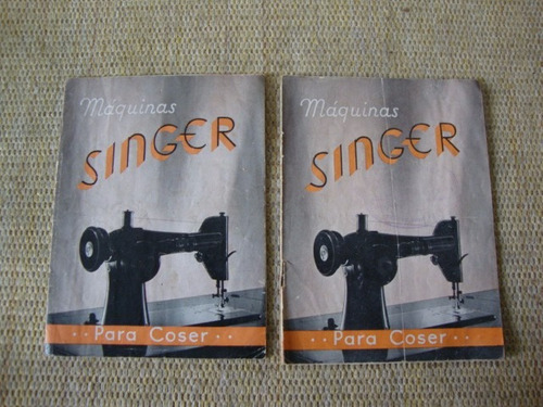 Prospecto/folder Máquinas De Costura Singer Anos 50/60 .