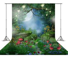 Fundo Fotográfico Princesa Jardim Floresta Encantada 1,5x2,2