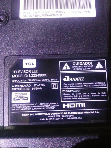 Tv 32 L32s4900 Smart Para Peças Tela Quebrad.e Led Queimado