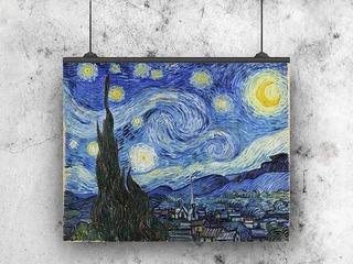 La Noche Estrellada Van Gogh Lienzo Tela Canvas 113x90cm