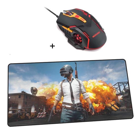 Mouse Gamer Multilaser Mo270 2400 Dpi 7 Botões + Mouse Pad M