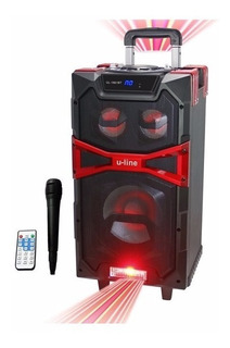 Parlante Portatil Uline Bluetooth, Radio Fm 60 W De Potencia