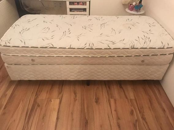 Conjunto Cama Box Solteiro Com Bi-cama Espuma