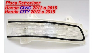 Pisca Retrovisor New Civic 2012 A 2015 City 09 A 15 Direito