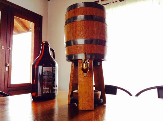 Chopera Cerveza Fernet Bitters Barril 2 Lt Canilla Bronce